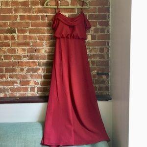 Azazie Ava bridesmaid dress in Burgundy